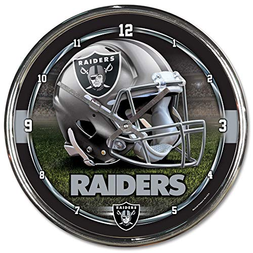 WinCraft NFL Oakland Raiders Chrome Clock