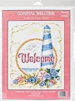 """Imaginating Counted Cross Stitch Kit 7.5""""X10""""-Coastal Welcome (14 Count)"""
