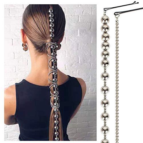 TGCF Bohème Aluminium Argent Extensions de Cheveux Clip Multi Brin Longue Chaîne De Gland De Mariée De Mariage Cheveux Accessoires Chapeaux