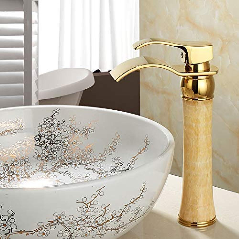 SEBAS Home Wasserhahn Becken Wasserhahn Alle Kupfer-Tisch unter dem Becken Heier und kalter Wasserhahn aus Gold Wasserhahn über dem Gegenbecken VerGoldeter Wasserhahn F