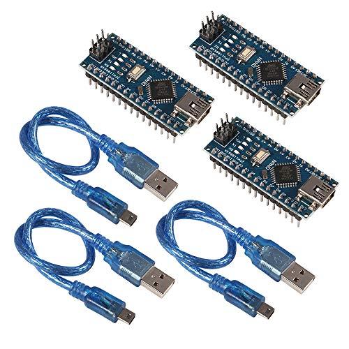 AITRIP for Arduino Mini for Nano V3.0 ATmega328P 5V 16M Micro Controller Board Module with cabels for ArduinoIDE