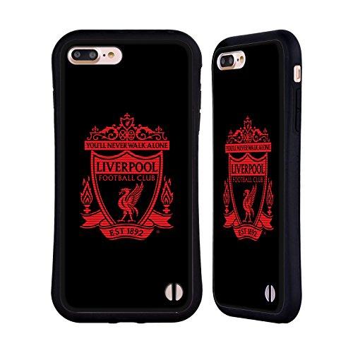 Head Case Designs Oficial Liverpool Football Club Negro 1 Cresta 2 Carcasa híbrida Compatible con Apple iPhone 7 Plus/iPhone 8 Plus