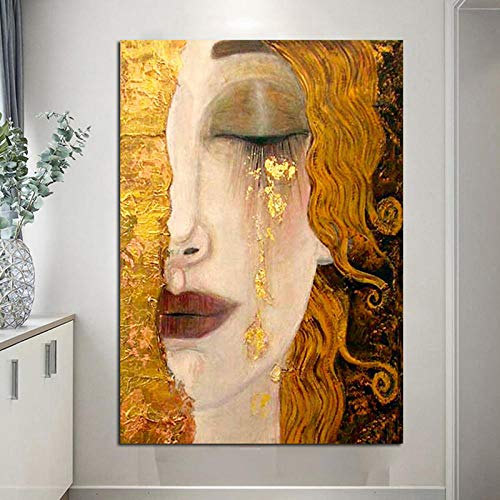 Y-fodoro Abstrakte Puzzles Puzzle, Holz Gustav Klimt Tränen Ölgemälde Klassische Erwachsene 1000 Stück Puzzles, Kinder Erwachsene Kinder Geschenk