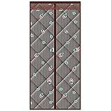 Pantalla de puerta con aislamiento térmico magnético, resistente al viento, impermeable, para invierno, para mantener el calor, cortinas de algodón para balcón, sala de estar, cocina, 1,110 * 210 cm