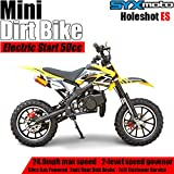 SYX MOTO Kids Dirt Bike Holeshot Electric Start 50cc Gas Power Mini...