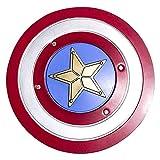 Escudo Capitan America Adulto Metal 1: 1 Apoyos de Película Escudo Capitan America Niños Capitán América Disfraz de Metal Shield para niños y fanáticos DecoracióN de Pared de Bar 45cm