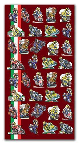 KOOLART Honda 500GP Valentino Rossi Serviette de Plage XL 140 x 70 cm