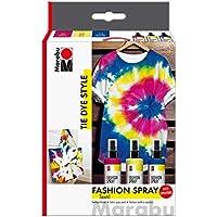 Marabu- Fashion-Spray clasificador Tie Dye, 3 x 100 ml, Color Rosa (1719000000094)