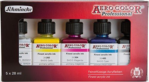 Schmincke AeroColor Acryltinte Grundfarbenset 5 x 28ml