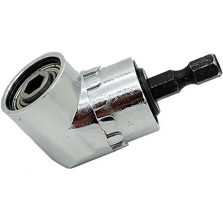 1//4 Hex Drill Bit Socket Holder Adaptor 105 Degree Angle Extension Right Driver