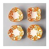 NYKK Platos de Salsa Serie Ramekin, 4 Piezas Mini Ramekins Porcelana refrigerios Postre Tazón Platos de cerámica (Juego de 4) Cuencos para Aperitivos (Color : C)