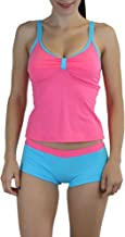 ToBeInStyle Women's 2 Pc Multicolor Stylish Ruched Cami Top w/Matching Boyshort