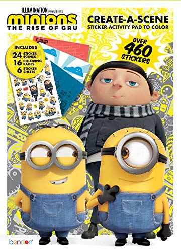 Despicable Me Minions The Rise of Gru 24-Page Create A Scene with Stickers 47655 Bendon Universal Studios DreamWorks