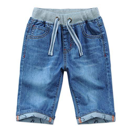 HOSD Pantalones Cortos para niños Verano para niños Pantalones de Mezclilla Cinco Pantalones para niños Pantalones para niños Grandes para niños