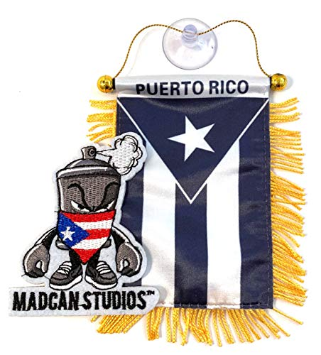 Puerto Rico Flags for Cars Quality Made Black Flag Edition Sticks to Glass Boricua Puerto Rican Style