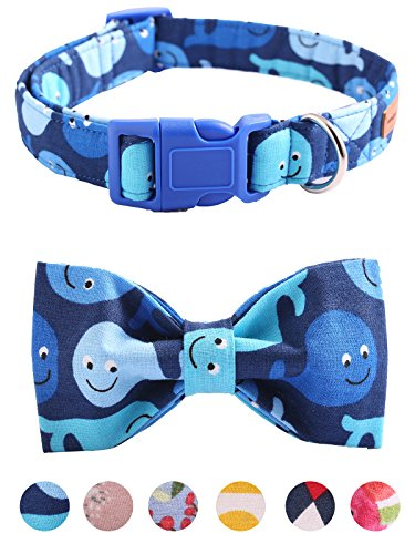 Unique style paws Bowtie Dog Collar and Cat Collar Handemade Detachable Bowtie Dog Collar Plastic...