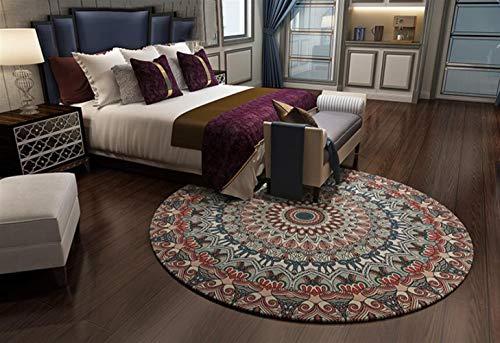Insun Moderner Teppich Runder Orientteppich für Wohnzimmer oder Schlafzimmer Anti Rutsch Abwaschbarer Stil 5 Durchmesser 180cm