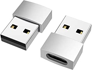 nonda USB C to USB Adapter (2 Pack), USB-C Female to USB Male, USB Type C Female to USB OTG Adapter for MacBook Pro 2015/2...