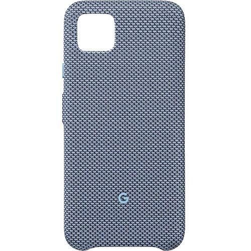 Google Pixel Schutzhülle für Pixel – Schutzhülle mit passexaktem Stoff & Active Edge kompatibel, Vinyl, Blue-ish, Pixel 4 XL GA01279