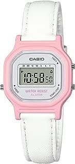 Women's Classic Quartz Watch with Leather-Synthetic Strap, White, 14.8 (Model: LA-11WL-4ACF