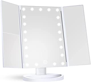 Makeup Mirror Vanity Mirror with Lights, 1x 2X 3X Magnification, Lighted Makeup Mirror, Touch...