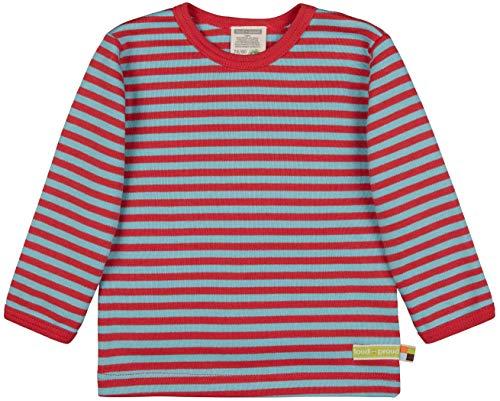 loud + proud Shirt Streifen, Gots Zertifiziert Camiseta, Chili, 50/56 cm Unisex bebé