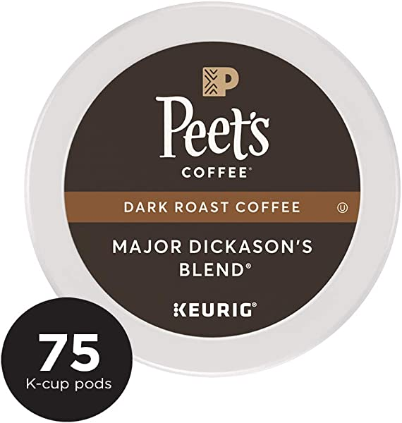 Peet S Coffee Major Dickason S Blend Dark Roast Coffee K Cup Coffee Pods 75 Count
