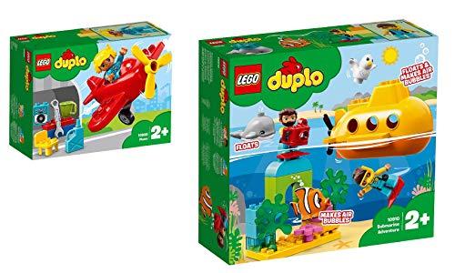 Steinchenwelt Lego Duplo Town 2er Set: 10908 Flugzeug + 10910 U-Boot-Abenteuer