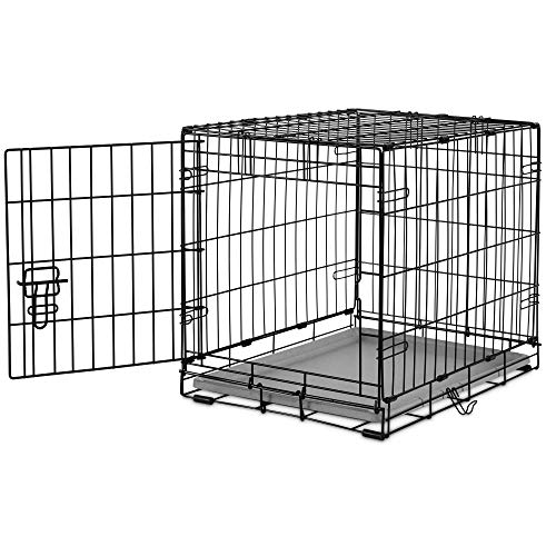 You & Me 1-Door Folding Dog Crate, 24' L x 17' W x 19' H, Small