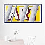 yaofale Sin Marco Arte Roy Lichtenstein Abstract Posters Pop Art Canvas Painting Wall Art Pictures For Living Room Tamaño Grande 40x80cm