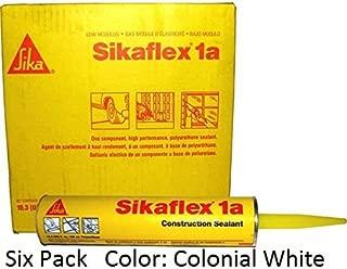 Sika, Sikaflex 1A, One Part Polyurethane Caulk, Sealant / Adhesive, 10.3 Fl Oz, Color: Colonial White, Six Pack