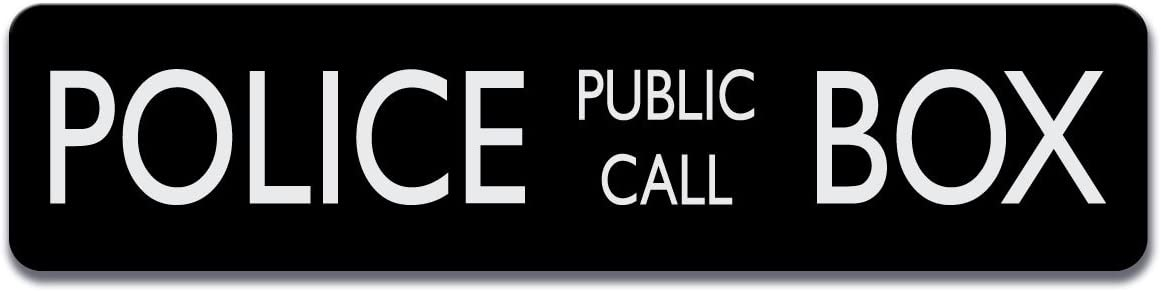 Police Public Gifts Call Box Aluminum Sign - Al sold out. inch Al Tall by 17 4