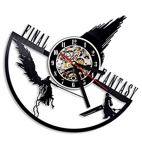 Fantasy Final VII LP Orologio da Parete in Vinile Record Oggettistica per la casa Art Handmade Handmade personalità Regalo