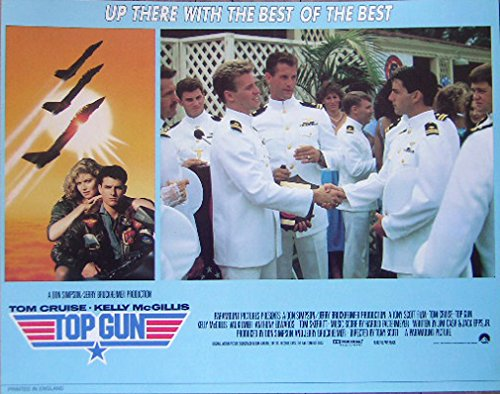Top Gun 1986 Authentic, Original Tom Cruise 11x14 British Lobby Card Movie Poster