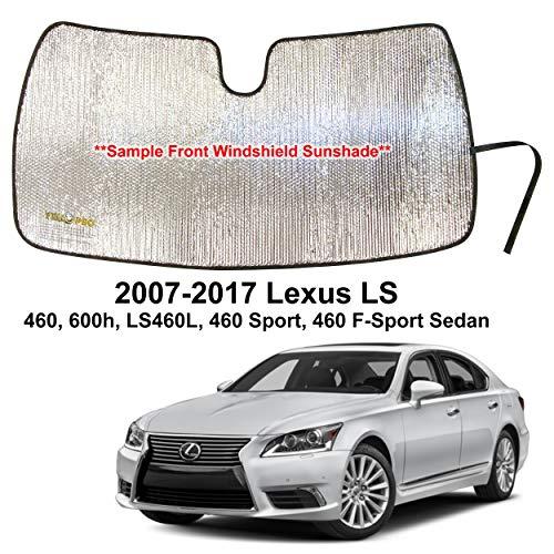 YelloPro Custom Fit Automotive Reflective Front Windshield Sunshade for 2007 2008 2009 2010 2011 2012 2013 2014 2015 2016 2017 Lexus LS 460 600h LS460L 460 F-Sport Sedan, UV Sun Protection Accessories