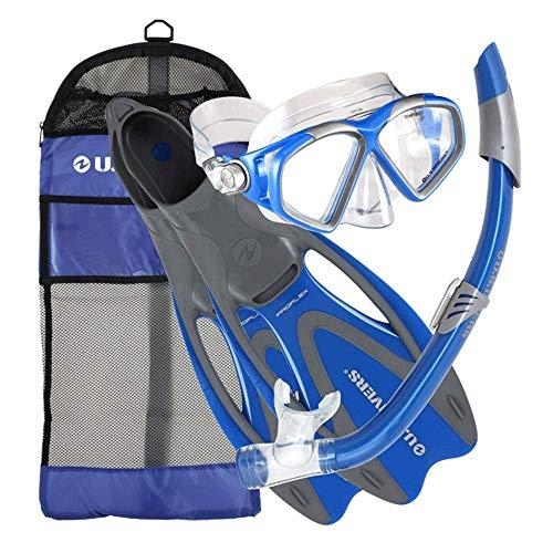 U.S. Divers Adult Cozumel Mask/Seabreeze II Snorkel/Proflex Fins/Gearbag (Ele.