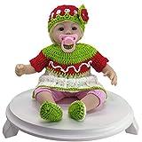 LFDHSF Reborn Baby Dolls Silicone Doll Rebirth Realista Recién Nacido Simulación Baby Doll 18 Pulgadas Regalo de cumpleaños Favorito de la niña