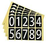 数字 シール 白文字 ユポ ナンバー ステッカー 22W095 中 番号 ラベル PP加工 耐候性 屋外 22 44mm 片 0 9の10種各1片 5シート 22W095