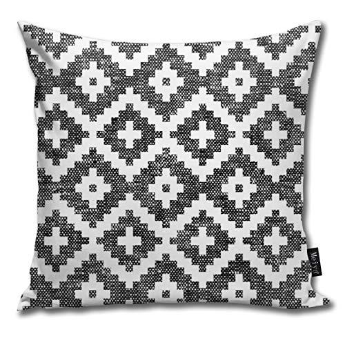 Rasyko Funda de cojín decorativa para cama de regalo, sofá de coche, color negro azteca