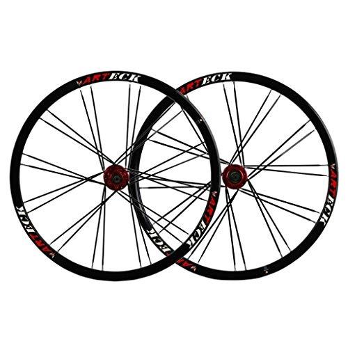 TYXTYX Juego de Ruedas MTB de 26 Pulgadas, llanta de Doble Pared para Bicicleta de montaña, aleación de Aluminio, 24 Horas de liberación rápida para neumáticos de 26'x 1,35~2,125