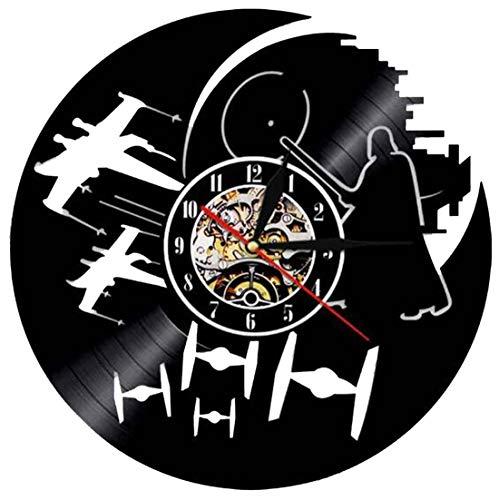 HKOEBST Reloj De Pared Electrónica De Vinilo, Reloj De...