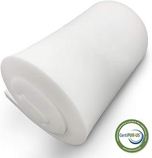 "FOAMSPOT 2"" Height x 24"" Width x 60"" Length 1.8 Density 44ILD (Firm) Upholstery Foam Cushion Made in USA"
