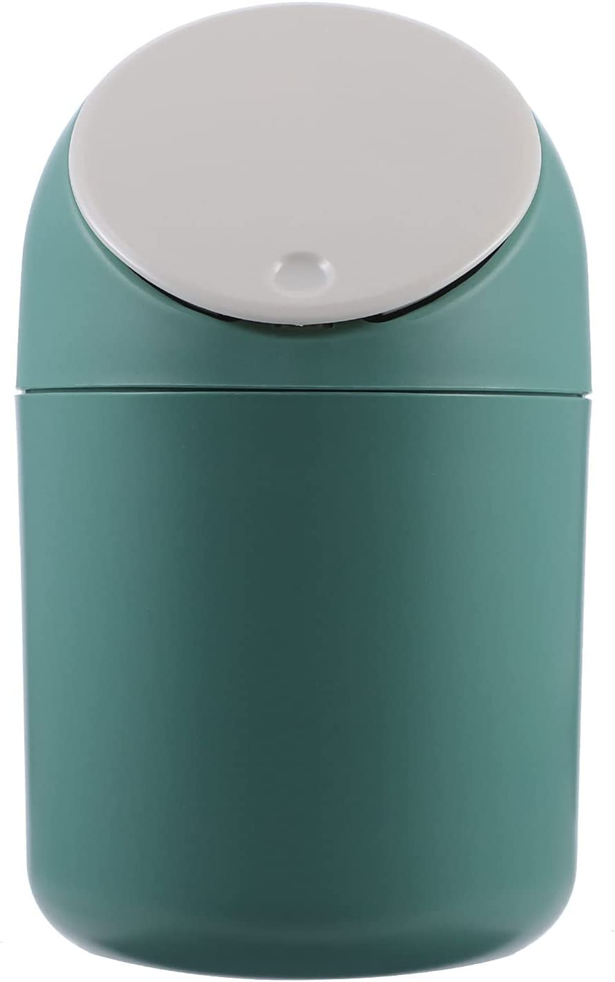 WINOMO Mini Large discharge OFFicial sale Desktop Trash Can Tiny Small with Wastebasket Table