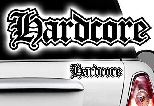HR-WERBEDESIGN 1x Hardcore Iron Cross Oldschool Eisernes Kreuz Aufkleber Set Sticker Rat Look H