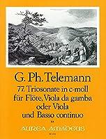 TELEMANN - Trio Sonata en Do menor (TWV:42/c 6) para Flauta, Viola y BC (Partitura/Partes)