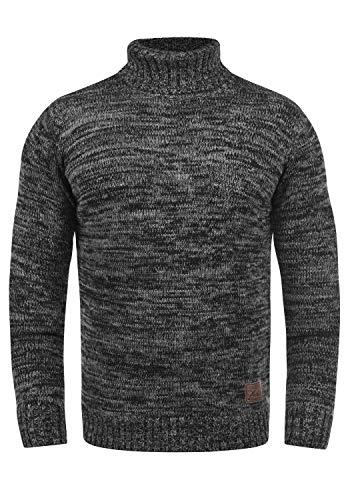 !Solid Philaremo Herren Rollkragenpullover Strickpullover Aus 100% Baumwolle, Größe:L, Farbe:Black (9000)