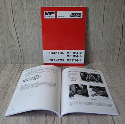 Massey Ferguson Betriebsanleitung Bedienungsanleitung Traktor MF 1114-2 114-4 1134-4