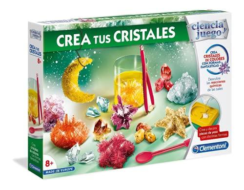 Clementoni-55288 - Crea tus Cristales - juego científico a partir de 8 años