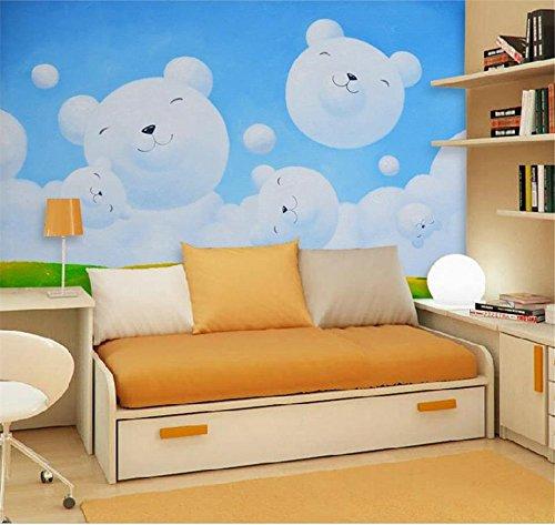 Yosot 3D behang eigen foto wandafbeelding kinderkamer sprookjes dragen wolken olie schilderij bank tv achtergrond vliesbehang voor 3D-muur 300cmx210cm