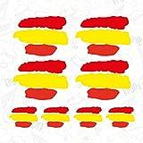 CUAC REVOLUTION 8 x Bandera ESPAÑA Vinilo Adhesivo Pegatina Sticker Coche Moto Dos TAMAÑOS